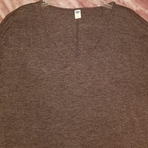 Grey 3/4 sleeve vneck tunic or dress